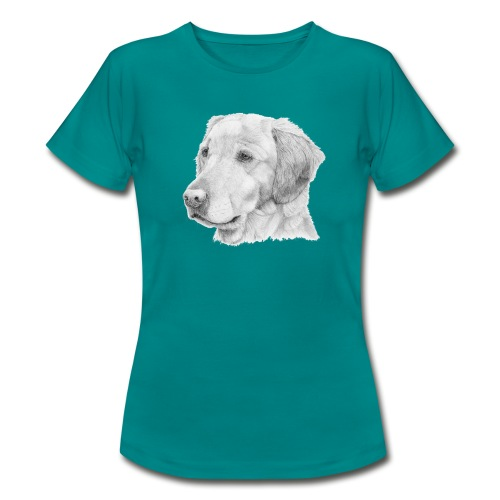 Golden retriever 2 - Dame-T-shirt