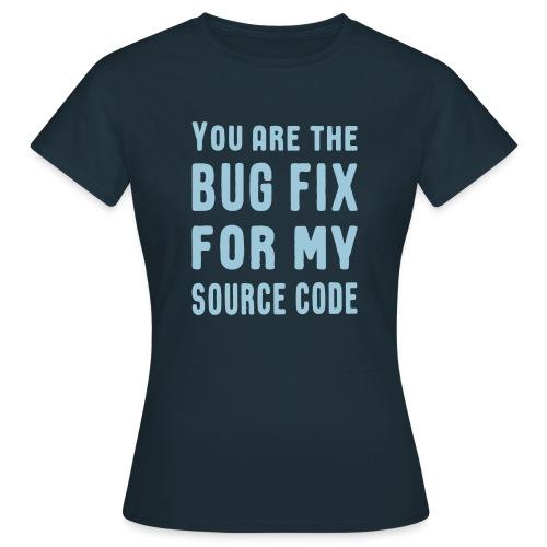 Programmierer Beziehung Liebe Source Code Spruch - Frauen T-Shirt