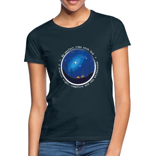 Sany O. Jesus Camping Star Wild Perfect Time God - Frauen T-Shirt