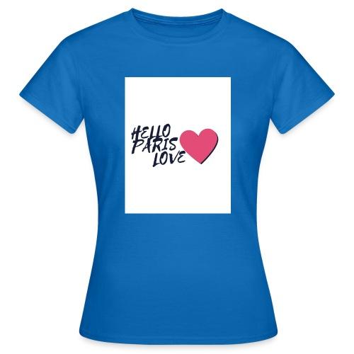 hello paris love 2 - T-shirt Femme