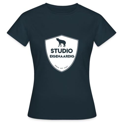 wit logo - Vrouwen T-shirt