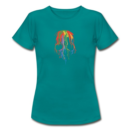 Skull and Colours - Camiseta mujer