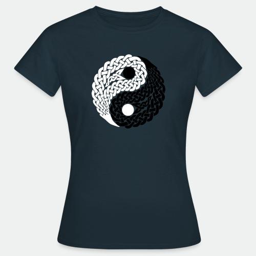 Yin und Yang Keltische Knoten Geschenk Yoga Zen - Women's T-Shirt