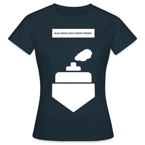 Blau-Weiß Dampfer - Frauen T-Shirt