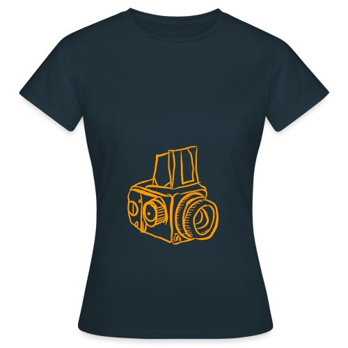 Kamera B orange - Frauen T-Shirt