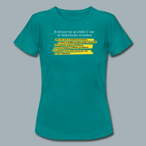 Nederlandse Grondwet T-Shirt - Artikel 1 - Vrouwen T-shirt