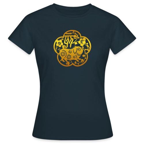 Chinese Zodiac Pig Papercut - Women's T-Shirt