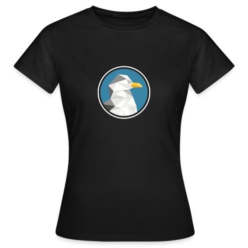 Möwe Mosaik Silhouette Tier - Frauen T-Shirt