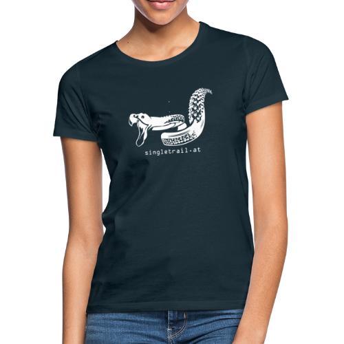 Single Trail Snake in Weiss - Frauen T-Shirt