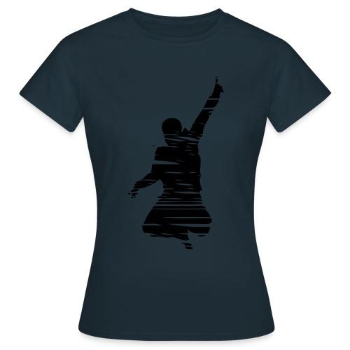 Jumping Man Schraffur - Frauen T-Shirt