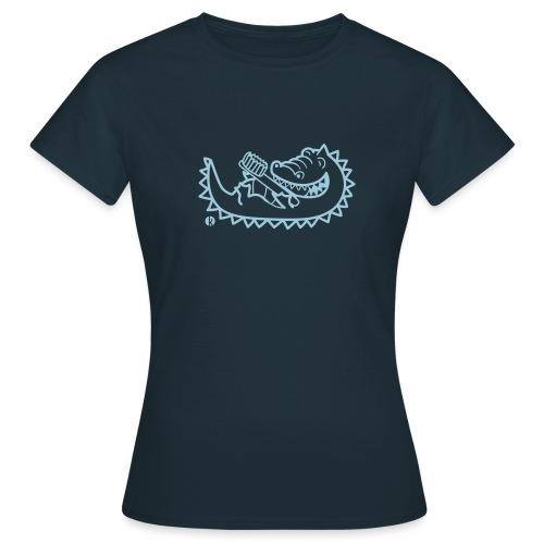 Krokodil mit Zahnbürste - Alligator with - Frauen T-Shirt