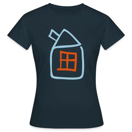 House Outline Pixellamb - Frauen T-Shirt