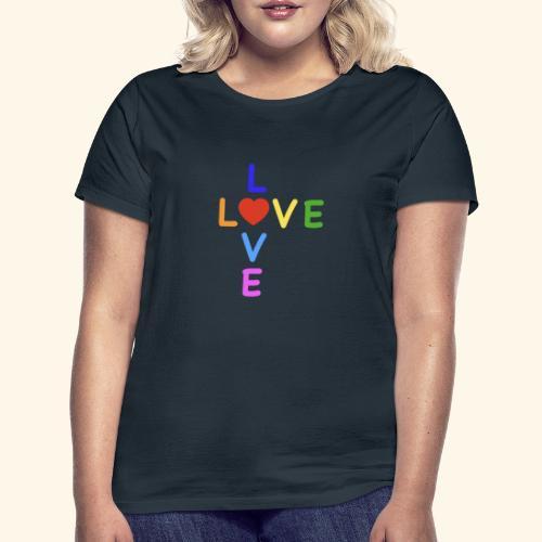 Rainbow Love. Regenbogen Liebe - Frauen T-Shirt