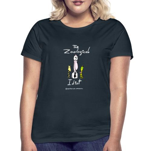 Zoological idiot, colores oscuros - Camiseta mujer