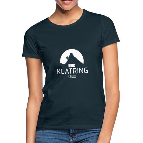 KRIK Klatring Oslo Logo foran - T-skjorte for kvinner