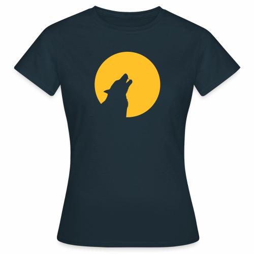 Wolf heult vor Mond Zähne wolve howling moon teeth - Frauen T-Shirt