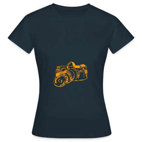 Kamera F orange - Frauen T-Shirt
