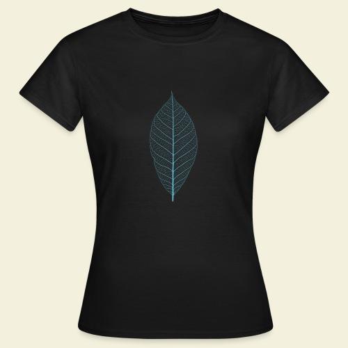 Feuille bleu Squelette - T-shirt Femme