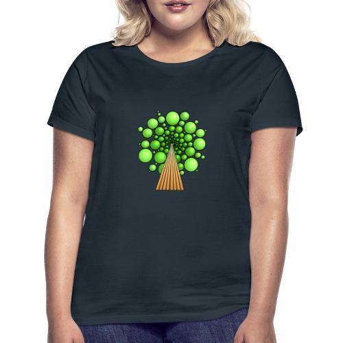 Kugel-Baum, 3d, hellgrün - Frauen T-Shirt