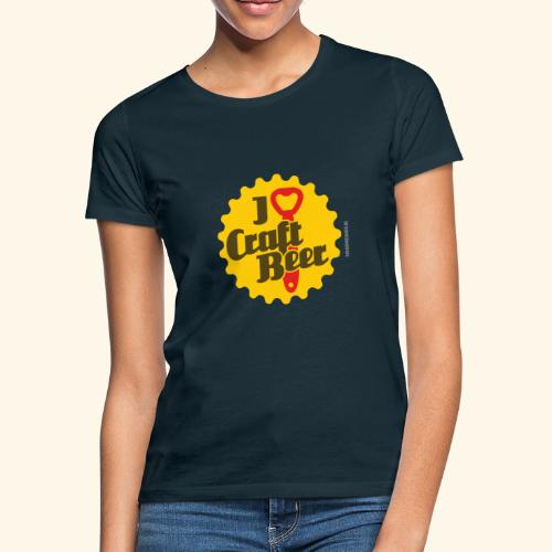 Craft Beer T-Shirt Design I Love Craft Beer - Frauen T-Shirt