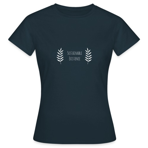 Sustainable Existence Logo (White) - Women's T-Shirt