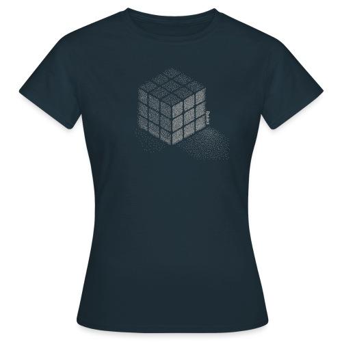 Rubik's Cube Stippling Dotted Cube - Women's T-Shirt