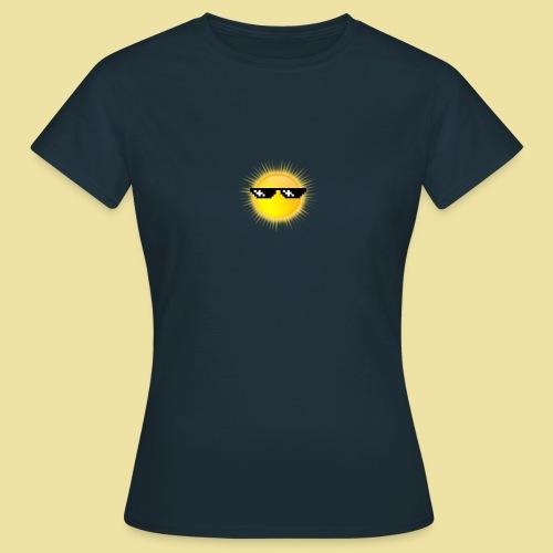 coole Sonne mit Sonnenbrille - Frauen T-Shirt