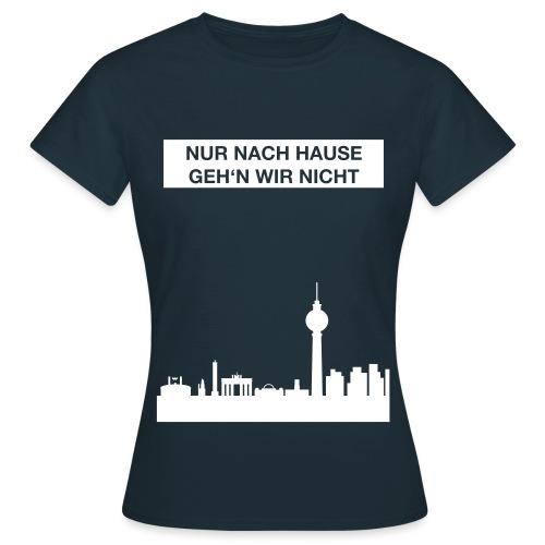 Berlinskyline_weiß - Frauen T-Shirt