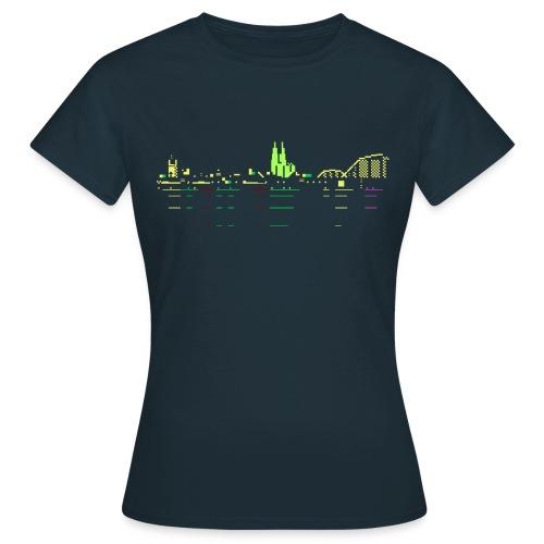 KÖLSCII (PETSCII-Köln-Panorama) - Frauen T-Shirt
