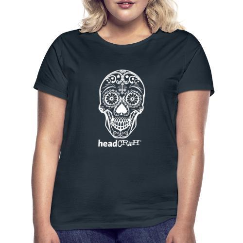 Skull & Logo white - Frauen T-Shirt
