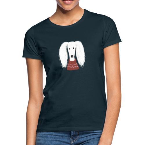 Saluki im Pulli - Frauen T-Shirt