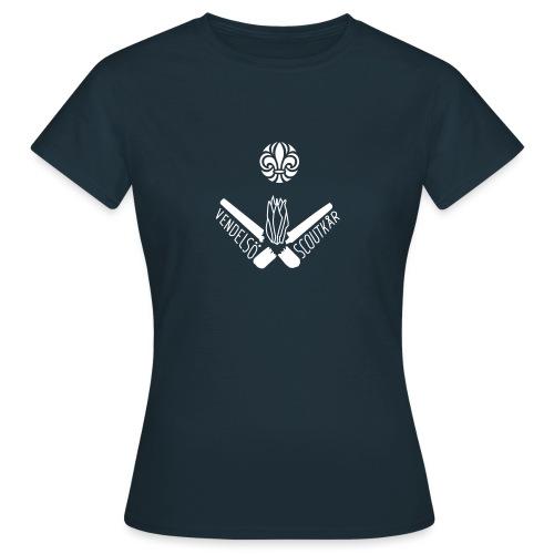 Vendelso Scoutkar logga stor - T-shirt dam