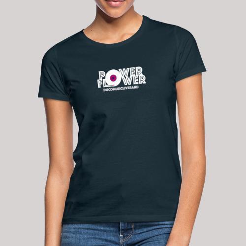 Logo PowerFlower bianco e fuxia - Maglietta da donna