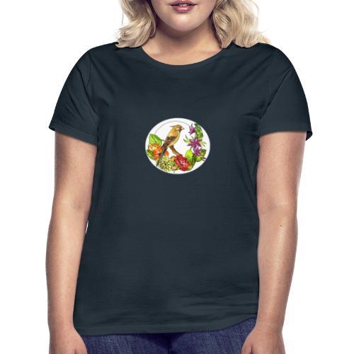 Bird Nature and flowers - Camiseta mujer