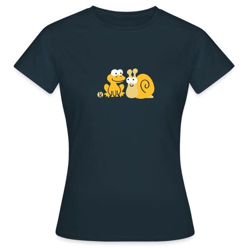 Frosch und Schnecke (c2) Freundschaft - Frauen T-Shirt