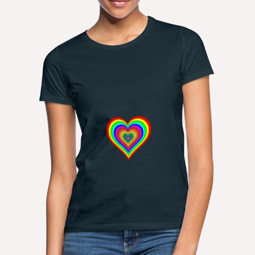Heart In Hearts Print Design on T-shirt Apparel - Women's T-Shirt