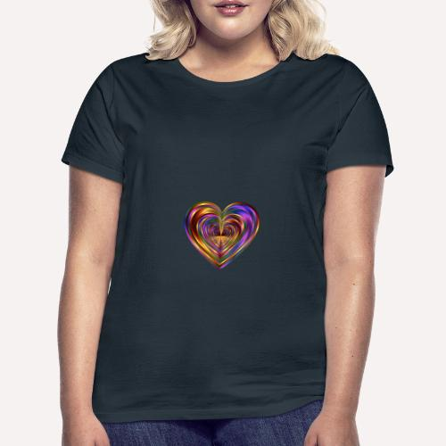Colorful Love Heart Print T-shirts And Apparel - Women's T-Shirt