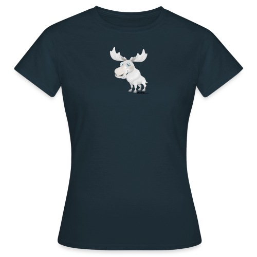 Albino elg - T-skjorte for kvinner