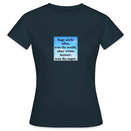 wissen - Frauen T-Shirt