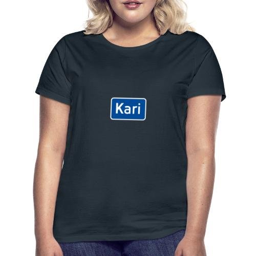 Kari veiskilt (fra Det norske plagg) - T-skjorte for kvinner