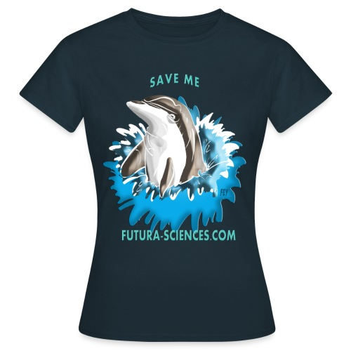 dauphin base 1 fs version 2 turquoise c - T-shirt Femme