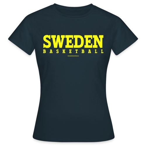 Sweden Basketball Yellow - T-shirt dam
