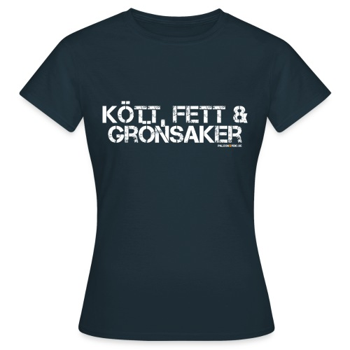 kottfettogronsaker - T-shirt dam