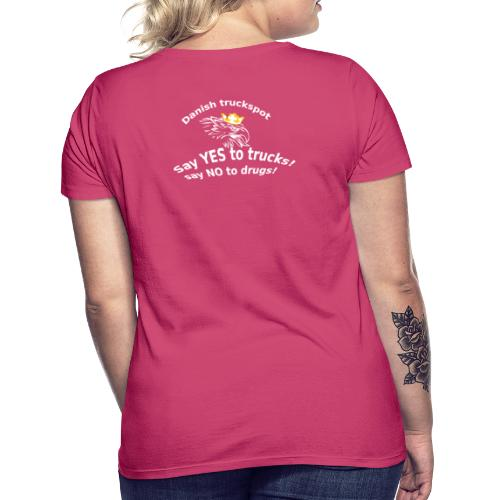 Say YES to trucks! Say NO to drugs (sorte trøjer) - Dame-T-shirt