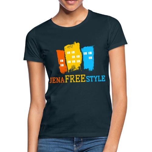 JFS_Logo_auf_mitteldunkel - Frauen T-Shirt