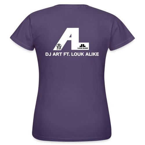DJ Art ft. Louk Alike (donkere pull-kleuren) - Vrouwen T-shirt