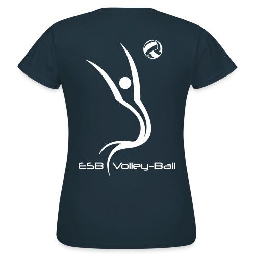ESBVB_logo_blanc_2010 - T-shirt Femme