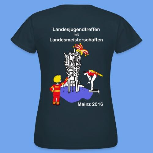 LM Logo vierfarbig weiß - Frauen T-Shirt
