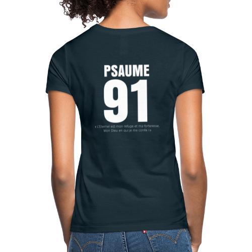 Psaume 91 eternel mon refuge en blanc - T-shirt Femme