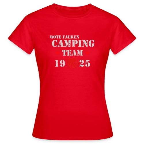 Camping Team 1 front png - Frauen T-Shirt